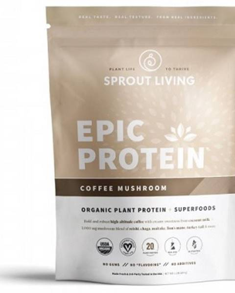 Sprout Living Sprout Living Epic proteín organic Coffee Mushroom 494 g
